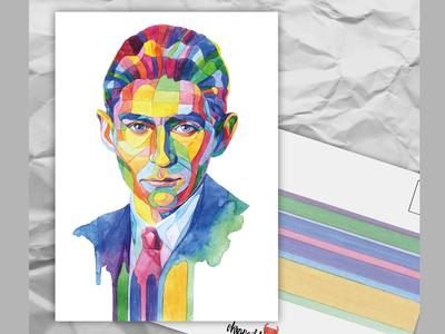 Почтовая открытка из серии «Писатели и поэты: Ф. Кафка»