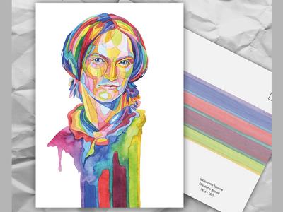 Почтовая открытка из серии «Писатели и поэты: Ш. Бронте»