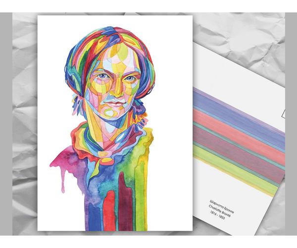 Почтовая открытка из серии «Писатели и поэты: Ш. Бронте» художницы oksanailiksusha