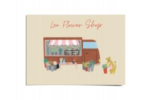 Открытка «Flower shop». O paper paper