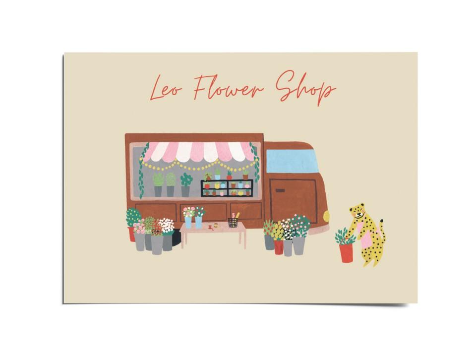 Авторская почтовая открытка «Flower shop». O paper paper