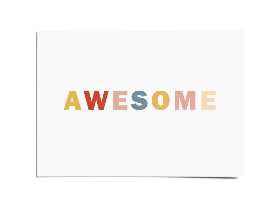 Авторская почтовая открытка «Awesome». O paper paper