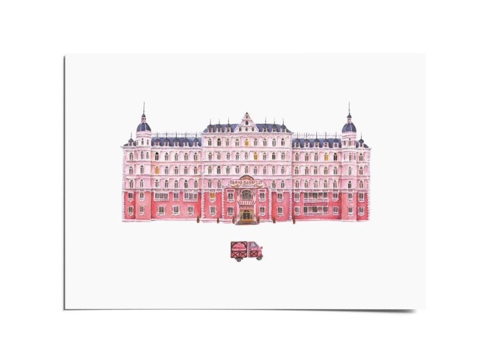 Авторская почтовая открытка «Budapest». O paper paper
