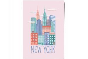 Открытка «New York». O paper paper