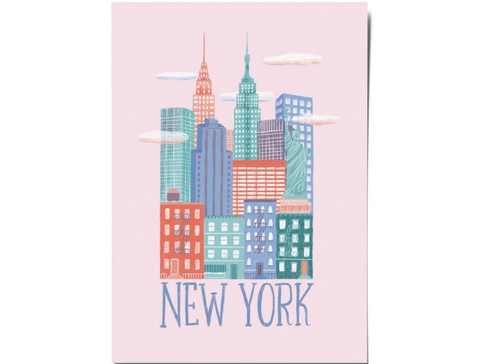 Авторская почтовая открытка «New York». O paper paper