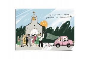 Открытка «Свадьба в церкви». O paper paper