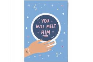 Открытка «Meet him».  O paper paper