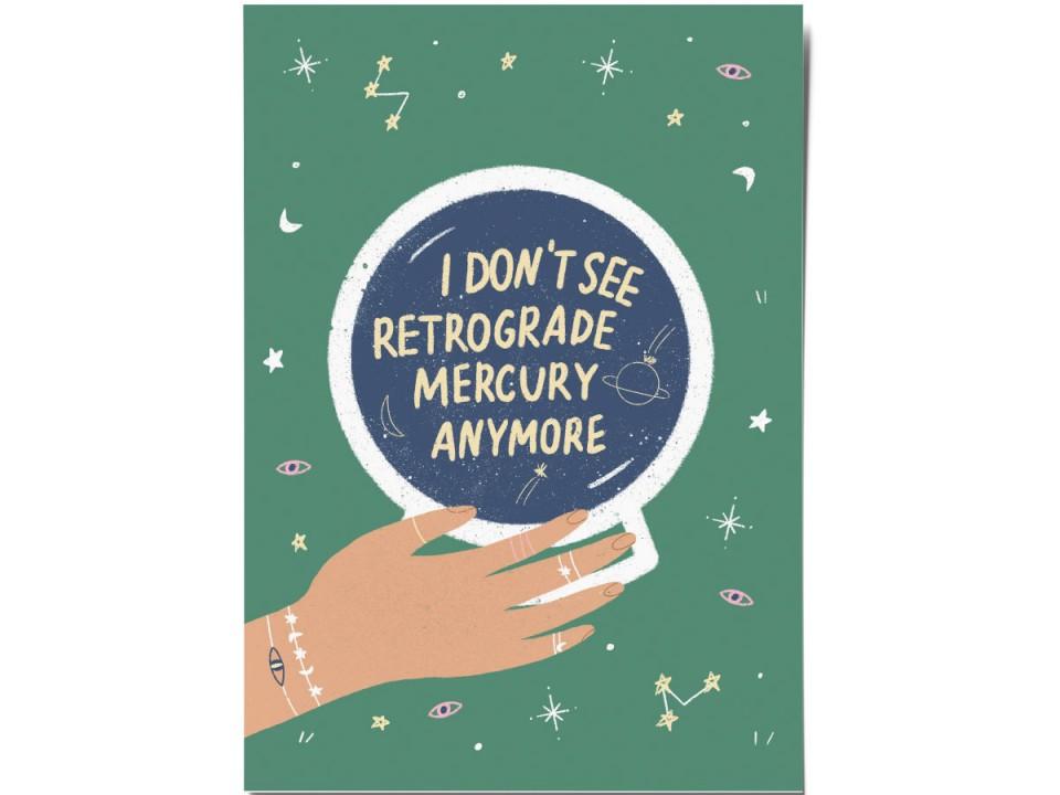Авторская почтовая открытка «Mercury Retrograde». O paper paper