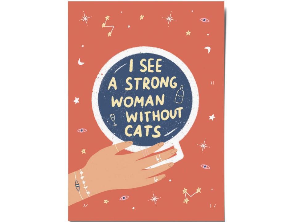 Авторская почтовая открытка «Strong woman».  O paper paper