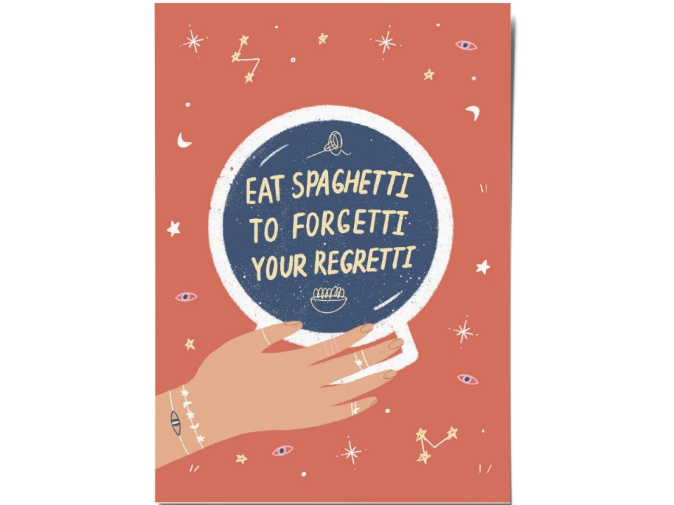 Авторская почтовая открытка «Spaghett»i O paper paper