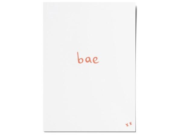 Открытка «bae». O paper paper