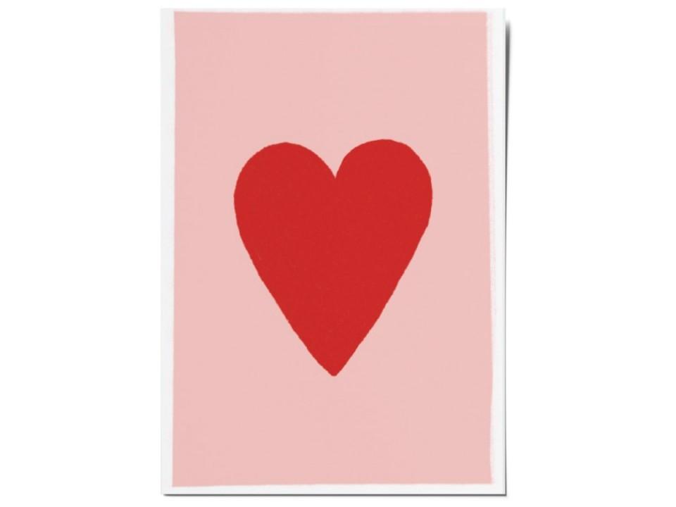 Авторская почтовая открытка «Сердце». O paper paper
