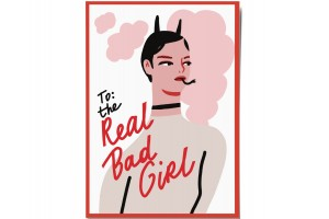Открытка «Bad girl». O paper paper