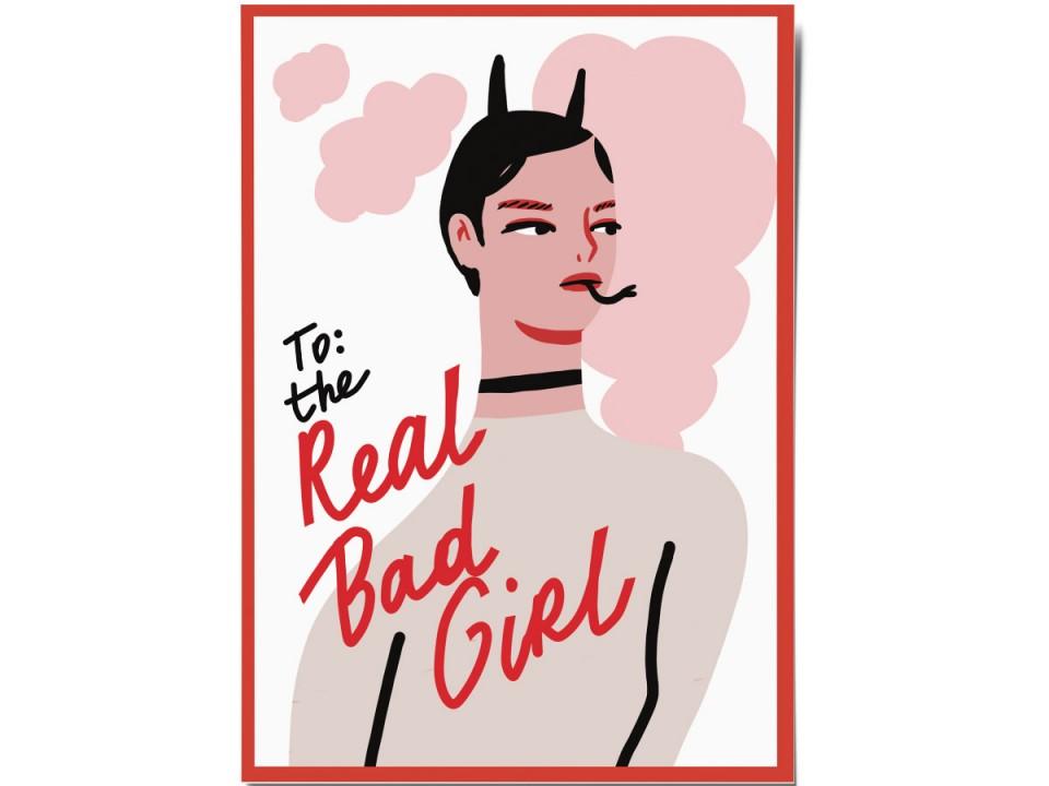 Авторская почтовая открытка «Bad girl». O paper paper