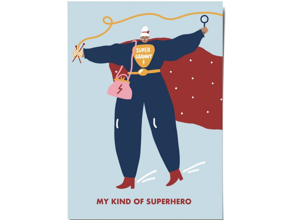 Авторская почтовая открытка «Granny hero». O paper paper
