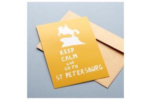 Почтовая открытка «Keep Calm and go to Petersburg»