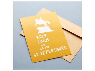 Открытка с конвертом Go To St. Petersburg