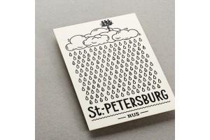 Почтовая открытка «Дождь. Санкт-Петербург»