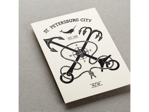 Почтовая открытка «Герб Петербурга»