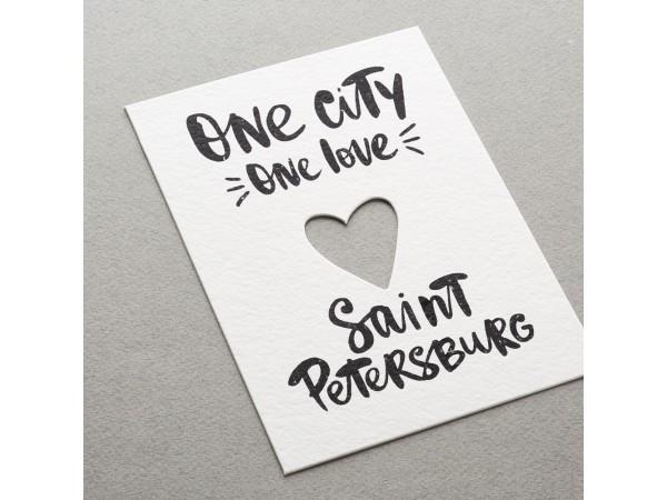 Почтовая открытка «One City»