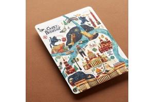 Почтовая открытка «Карта Санкт-Петербурга»