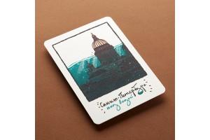 Почтовая открытка «Санкт-Петербург под водой»