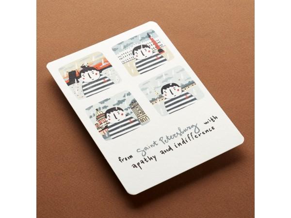Почтовая открытка «Form St. Petersburg With apathy»