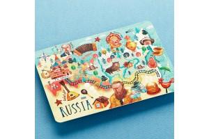 Почтовая открытка «Карта России»