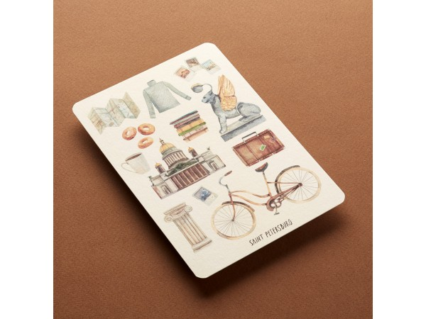 Почтовая открытка «Атрибуты. Санкт-Петербург»