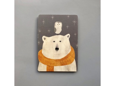 Открытка Медведь и сова