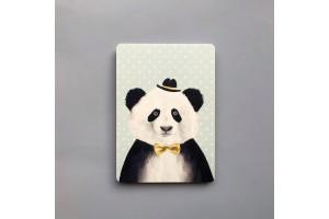 Почтовая открытка «Панда в шляпе»