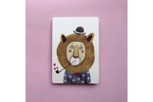 Почтовая открытка «Лев. Милый лев»