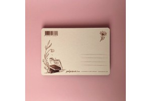 Почтовая открытка «In books we trust»