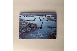 Почтовая открытка «Коты-мосты»