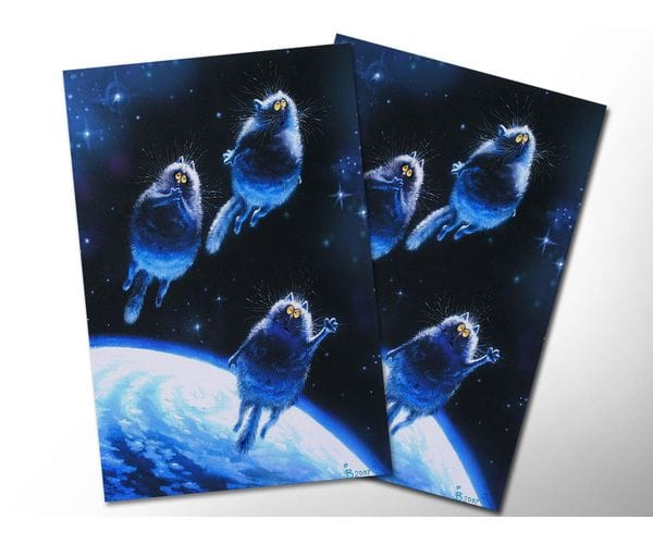 Почтовая открытка «Посланцы», из коллекции Ирины Зенюк «Синие коты»