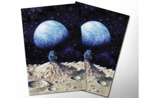 Почтовая открытка «Одиночество», синие коты, Ирина Зенюк