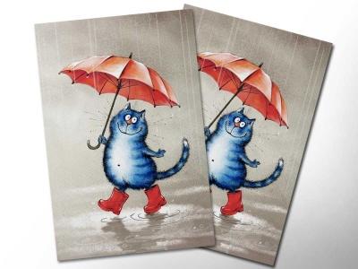 Открытка «Кот в сапогах»