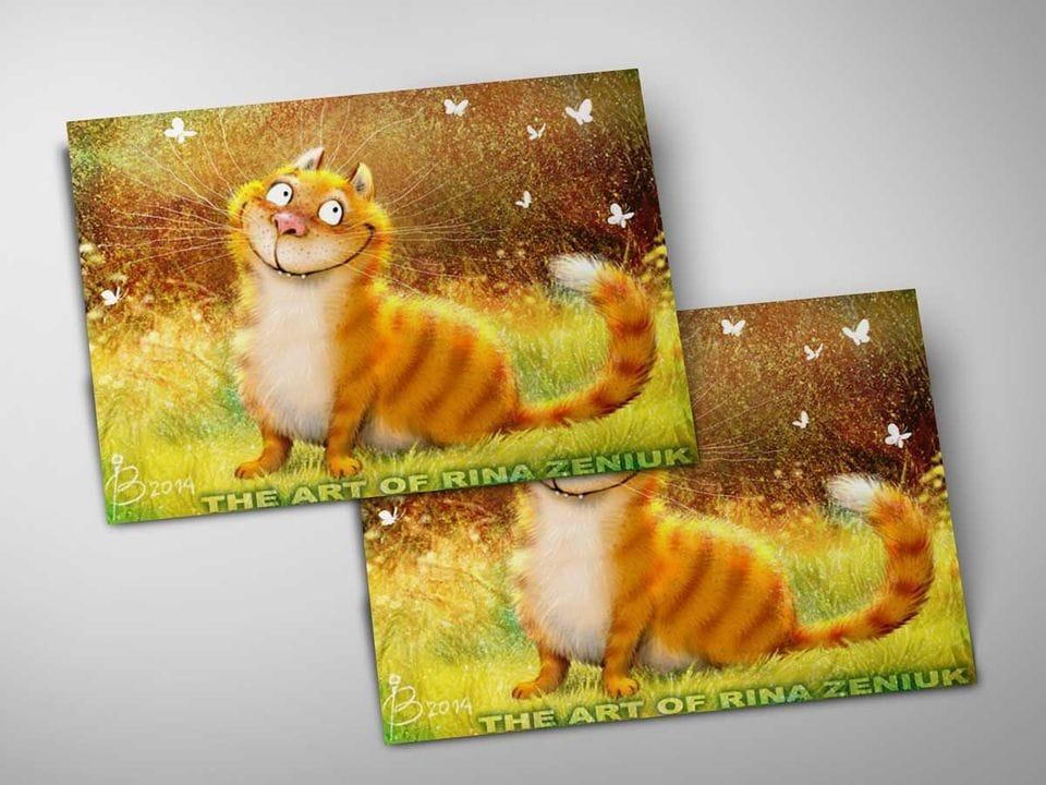 Почтовая открытка «Сияние», из коллекции Ирины Зенюк «Синие коты»