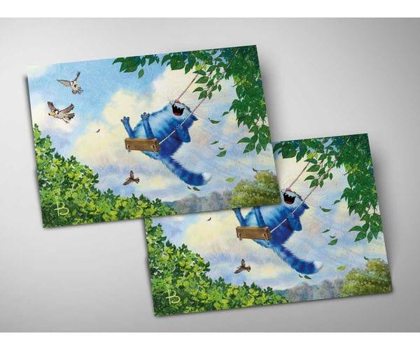 Почтовая открытка «Июнь», из коллекции Ирины Зенюк «Синие коты»