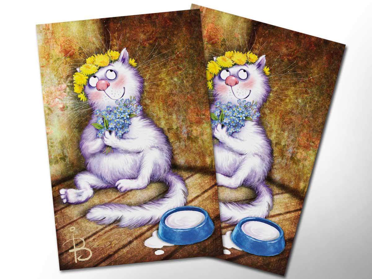 увидел открытки с котами от александра фото представлен барсук
