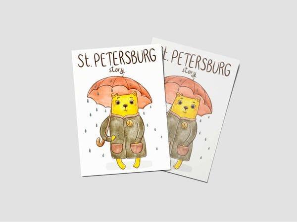 Открытка почтовая «St.Petersburg story»