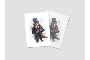Открытка почтовая «Пушкин», великие коты