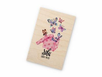 Деревянная открытка Takewood «Лови свою мечту»