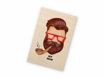 Деревянная открытка Takewood «Мой мужчина»