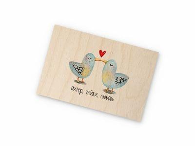 Деревянная открытка Takewood «Питерские чайки»