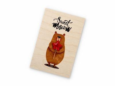 Деревянная открытка Takewood «Sweet Moscow»