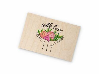 Деревянная открытка Takewood «With love»