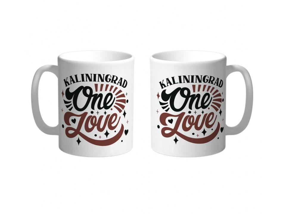 Керамическая кружка «One love» Калининград