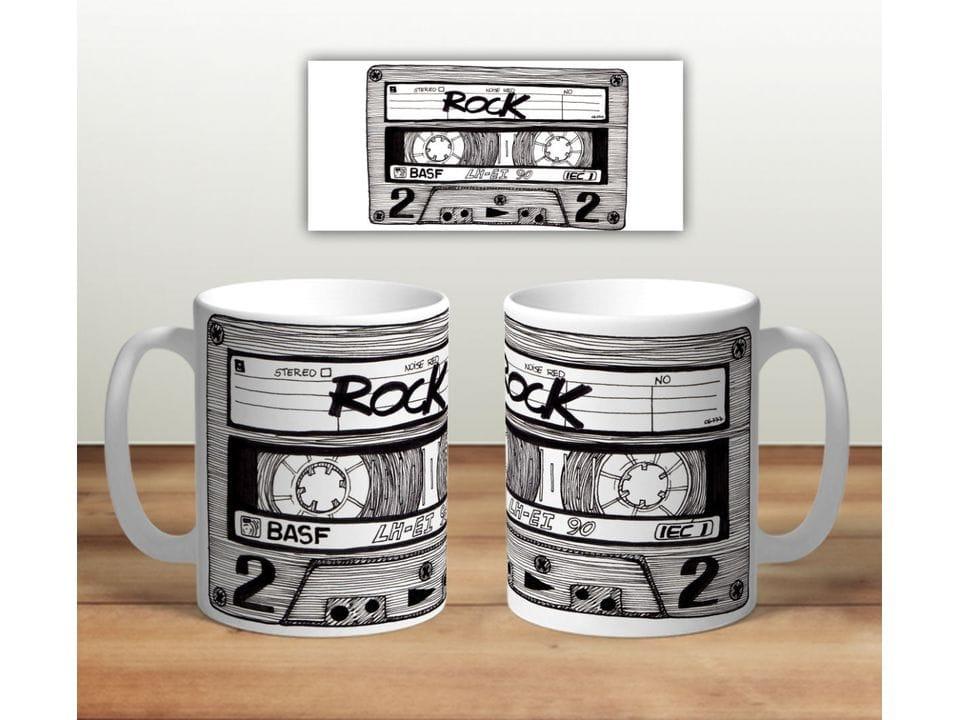 Керамическая кружка с принтом «Касета Rock»