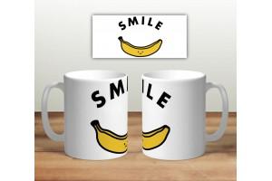 Кружка сувенирная «Smile банан»